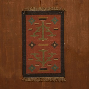 relic rug (art red)